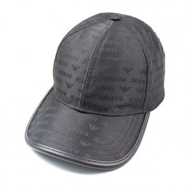 62515d087f6 Armani Jeans AJ Logo Print Cap Black