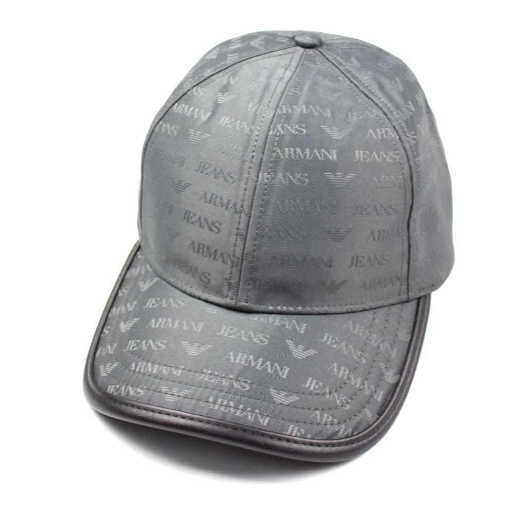 huge discount utterly stylish online for sale Armani Jeans Armani Jeans AJ Logo Print Cap Grey