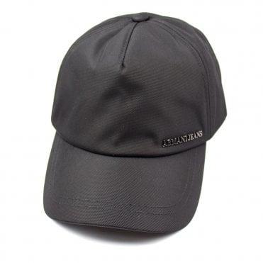 Armani Jeans AJ Metal Name Logo Cap Black edf12b474748