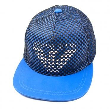 643380c3 Armani Jeans AJ Netted Snapback Blue