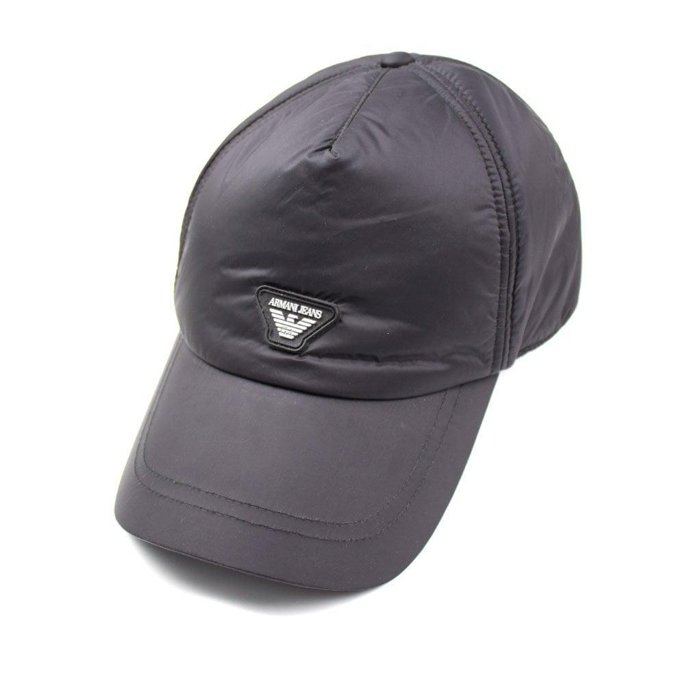 7976d84e0cd Armani Jeans AJ Nylon Logo Cap Black