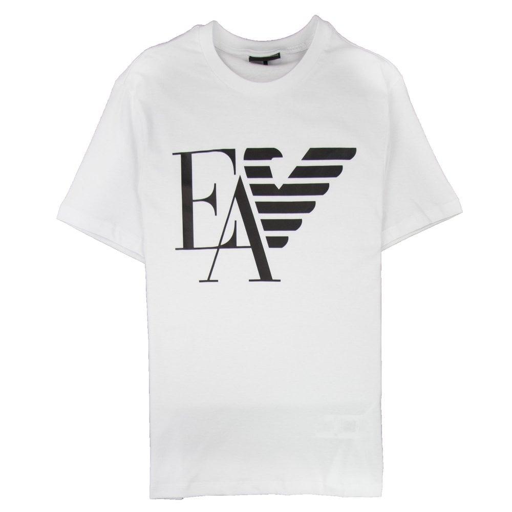 dcb688f2 Armani Jeans Ea Eagle Print Logo T-shirt Bianco Ottico 0100 | ONU