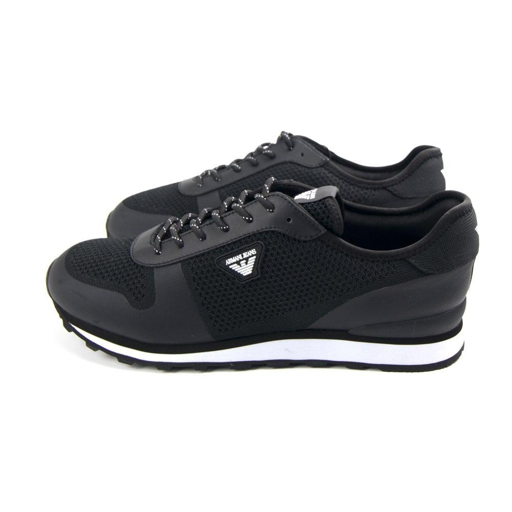 5f7d2b14 Mesh Runner Trainers Black