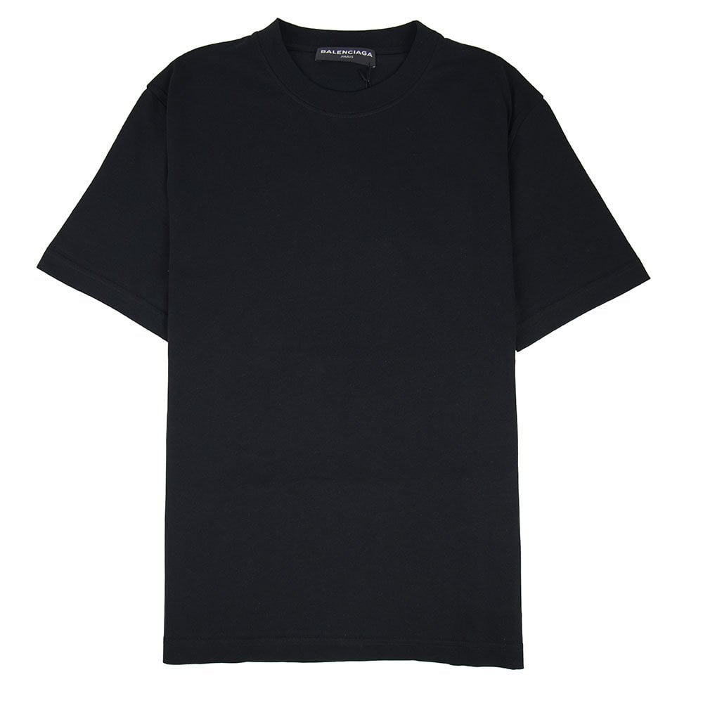 b8e2b9e55cd5a1 Balenciaga Back Logo T-shirt Black   ONU