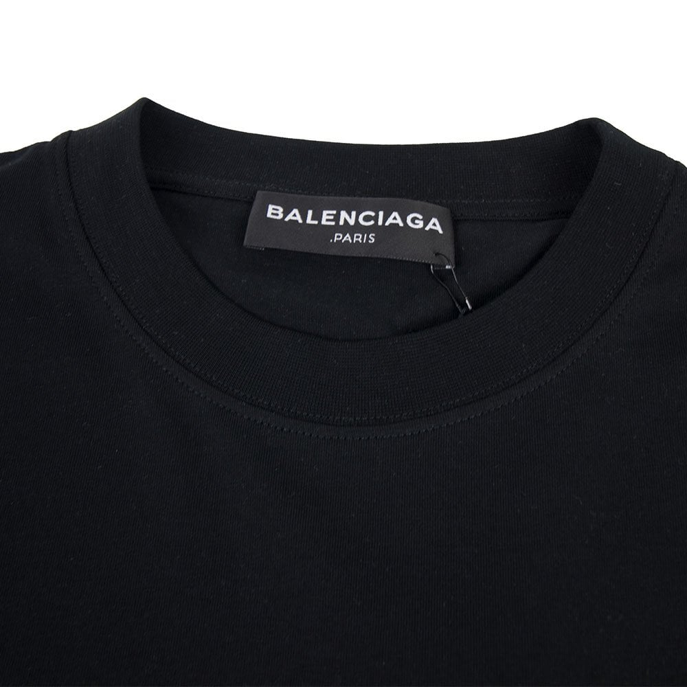 dbbc7b3f327f04 Balenciaga Back Logo T-shirt Black | ONU