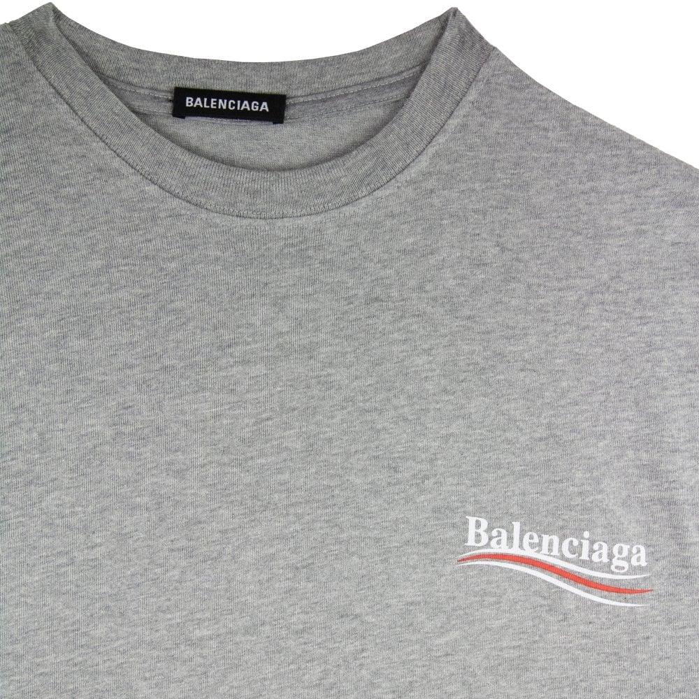 Balenciaga Political S/s T Shirt Grey