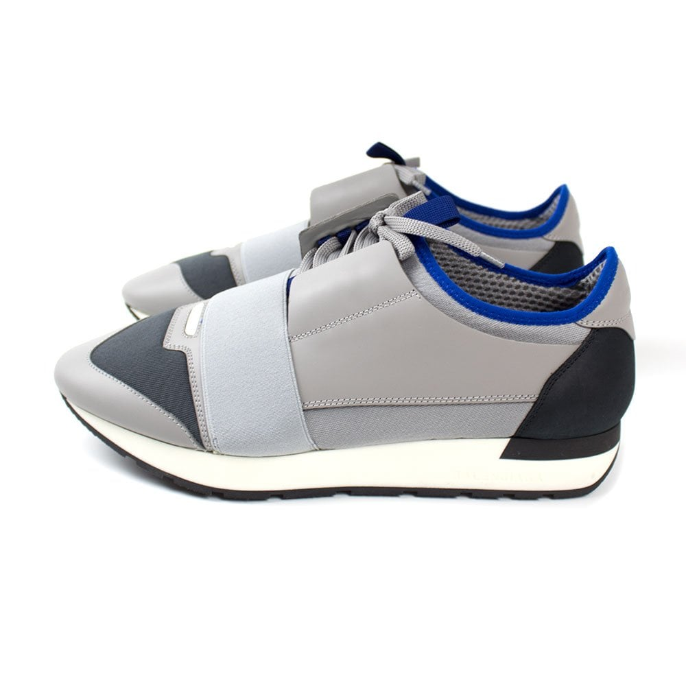 71cb9d4b1d321f ... Balenciaga Race Runner Trainers Grey. Tap image to zoom. Grey suede and  mesh, Grey leather and neoprene