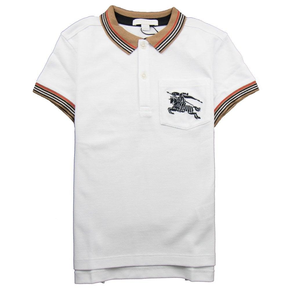 b6bd8380a Burberry Children Noel Check Polo White