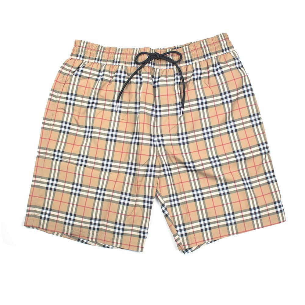 bc5959290b Burberry House Check Swim Shorts Camel   ONU