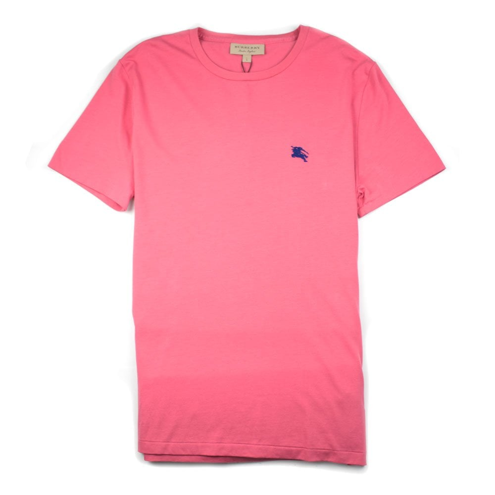 c64a8c7a Burberry Joe-Forth Embroidered Logo T-shirt Pink\Blue | ONU
