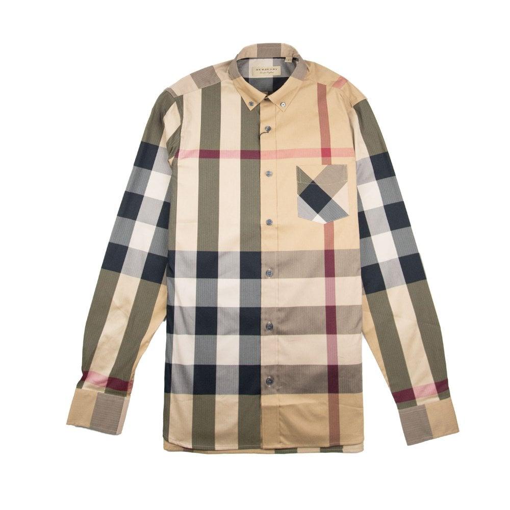 b13a6976 Burberry Check Shirt Camel | ONU