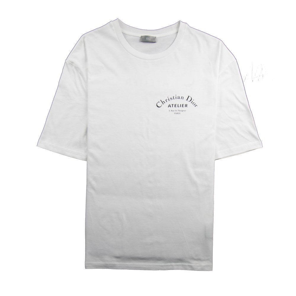 best prices how to serch los angeles Atelier Logo T-Shirt White