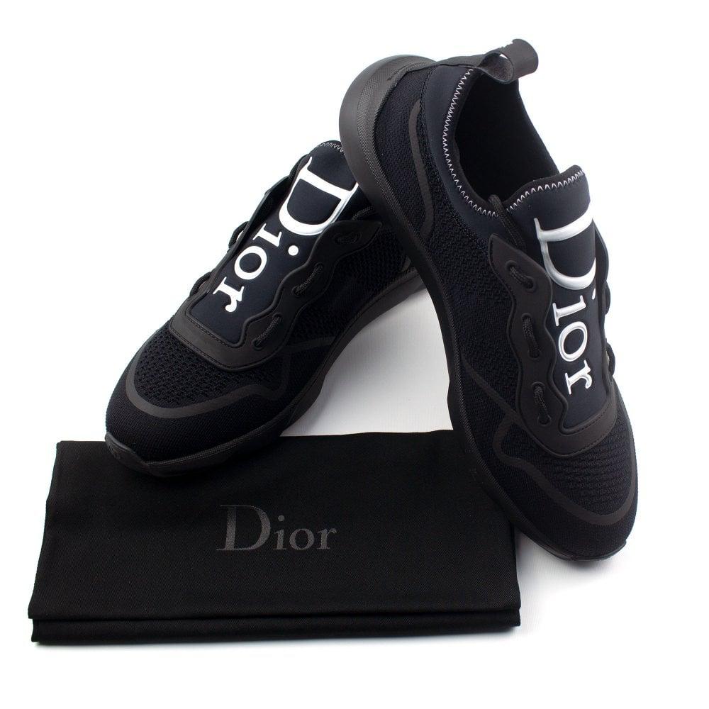 Christian Dior Knit Trainer Black   ONU