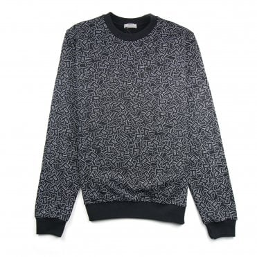 0db3d456d Christian Dior Letters All Over Print Sweatshirt Black