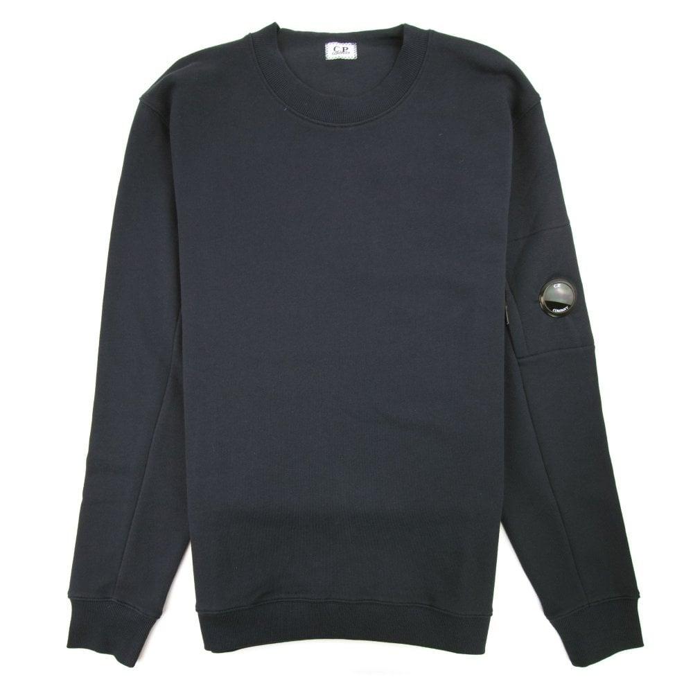 Diagonal Fleece Lens Sweatshirt Black
