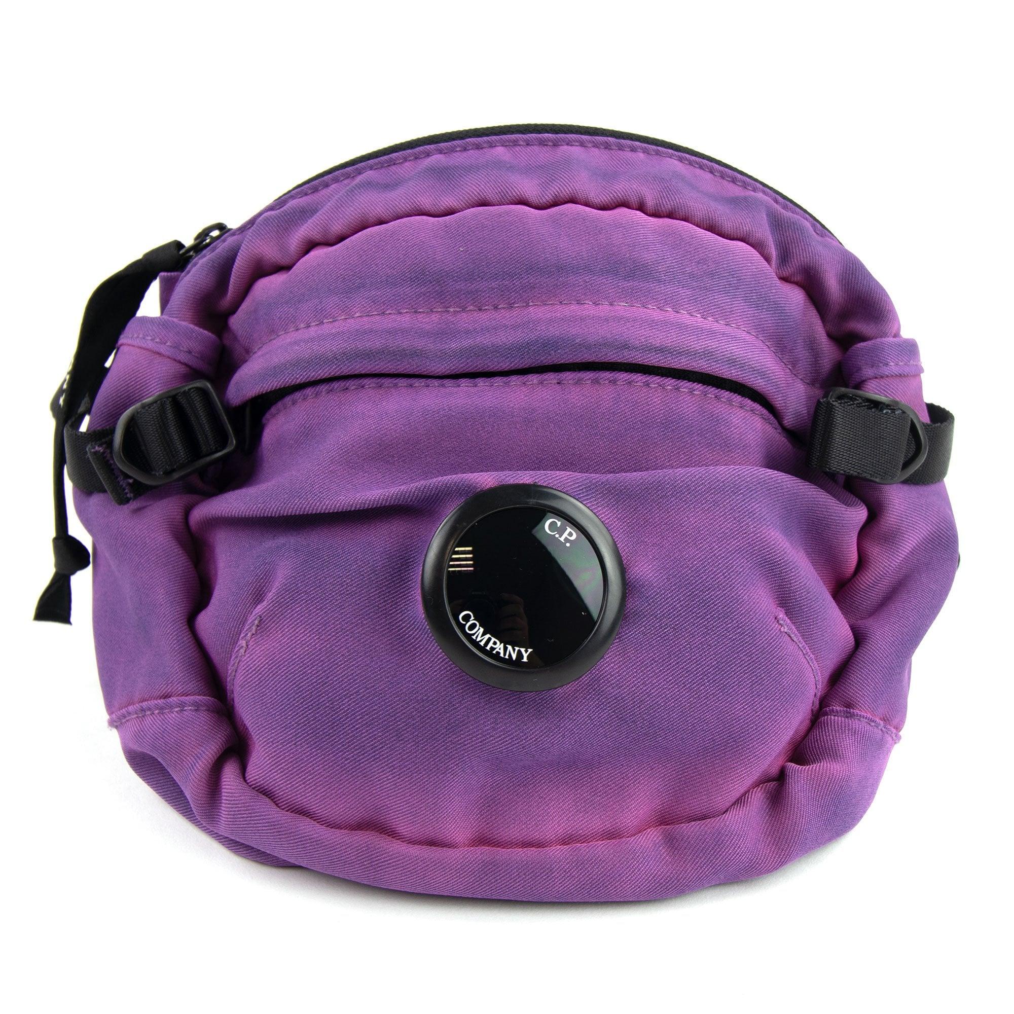 CP Company CP Company Garment Dyed Nylon Sateen Lens Waist Bag Bluejay 834