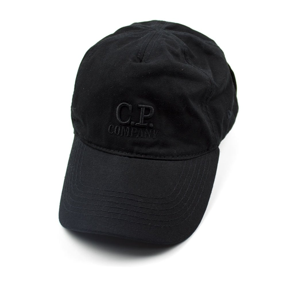 a47c033b CP Company Goggle Cap With Embroidered Logo Black | ONU