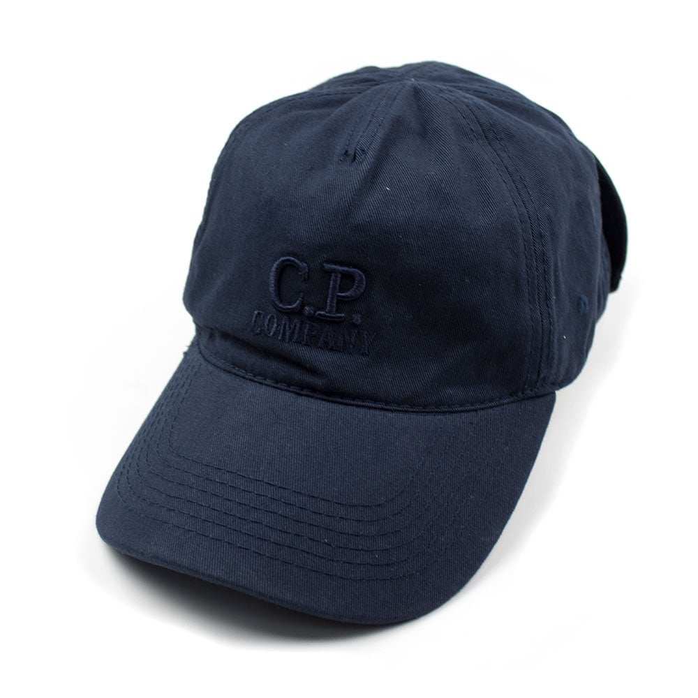 58ece1de84b CP Company Goggle Cap With Embroidered Logo Navy