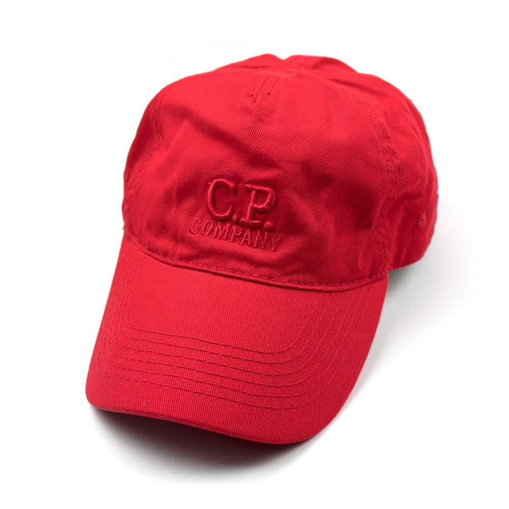 a68a16e53f8 CP Company Goggle Cap With Embroidered Logo Red