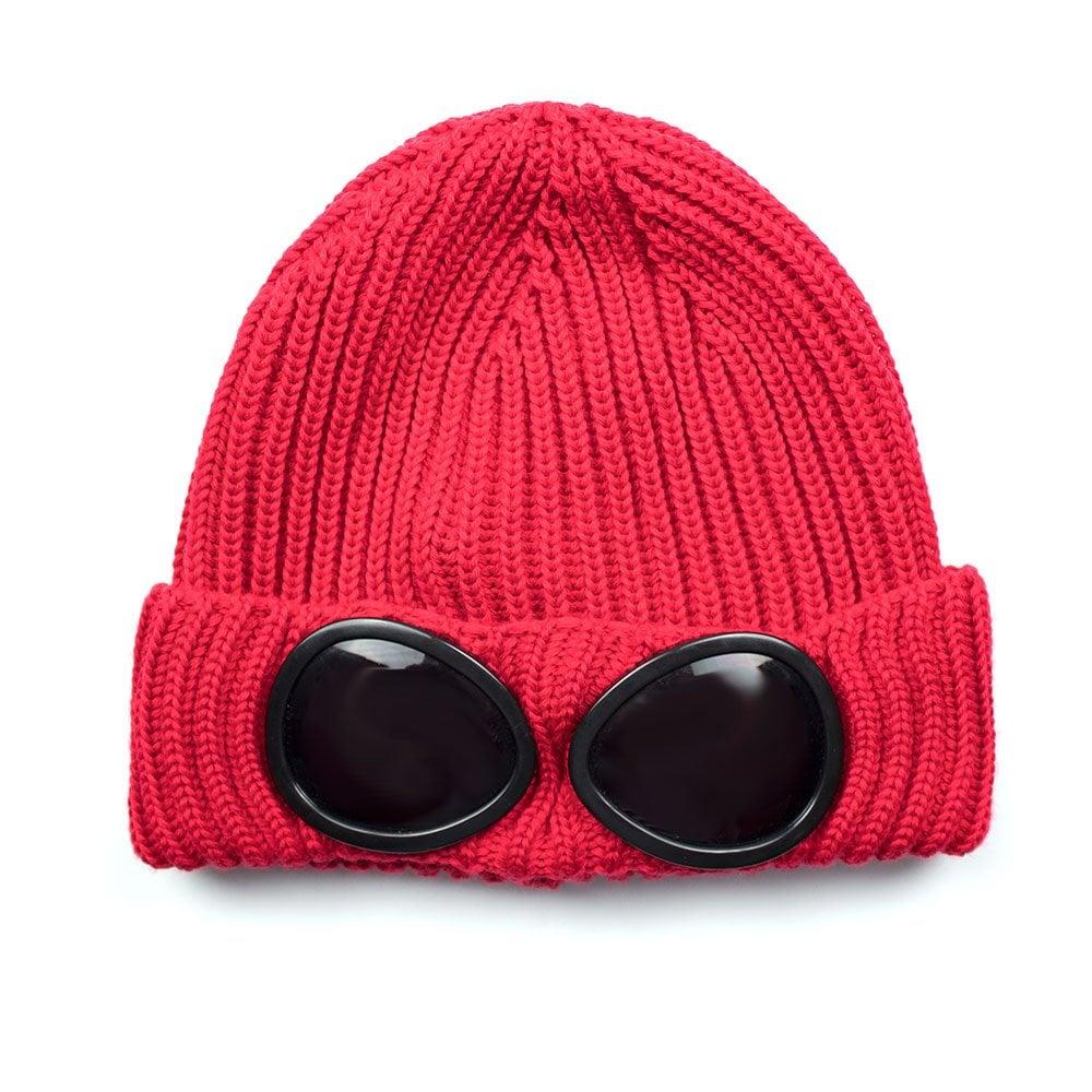69ad9ff21 CP Company CP Company Goggle Winter Beanie Red