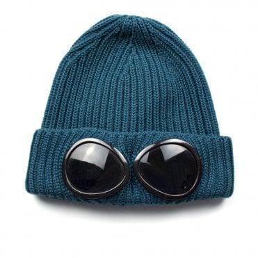 c1e7293cbf8 CP Company Goggle Winter Beanie Turquoise