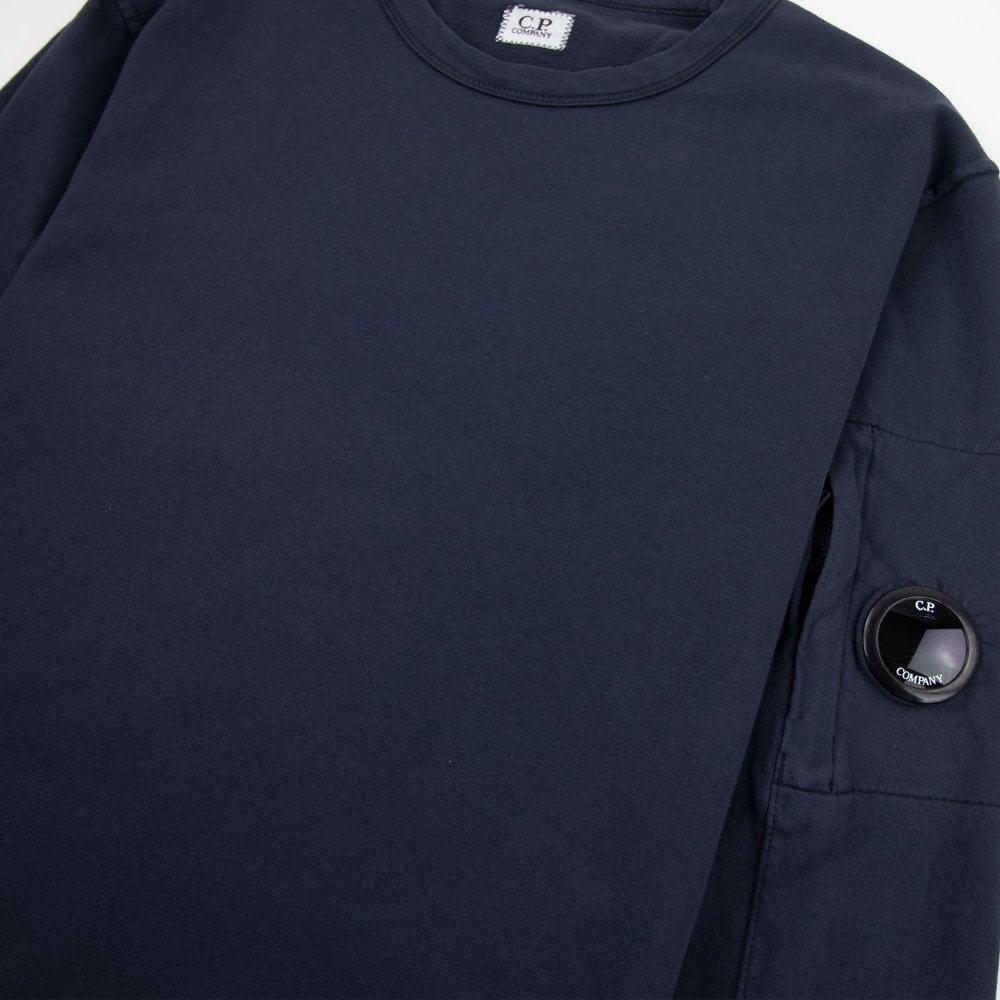 CP Company Light Fleece Lens Crew Sweatshirt Navy 888