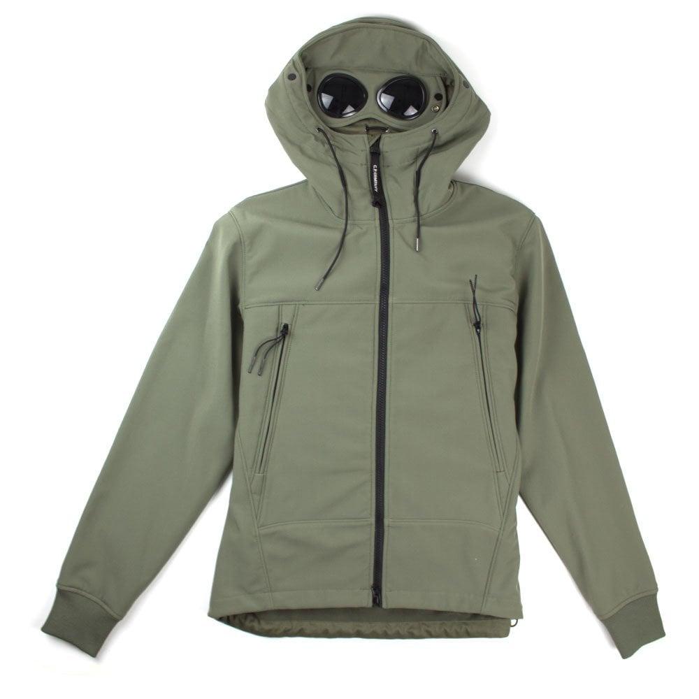 CP Company CP Company Soft Shell Hooded Goggle Jacket Khaki