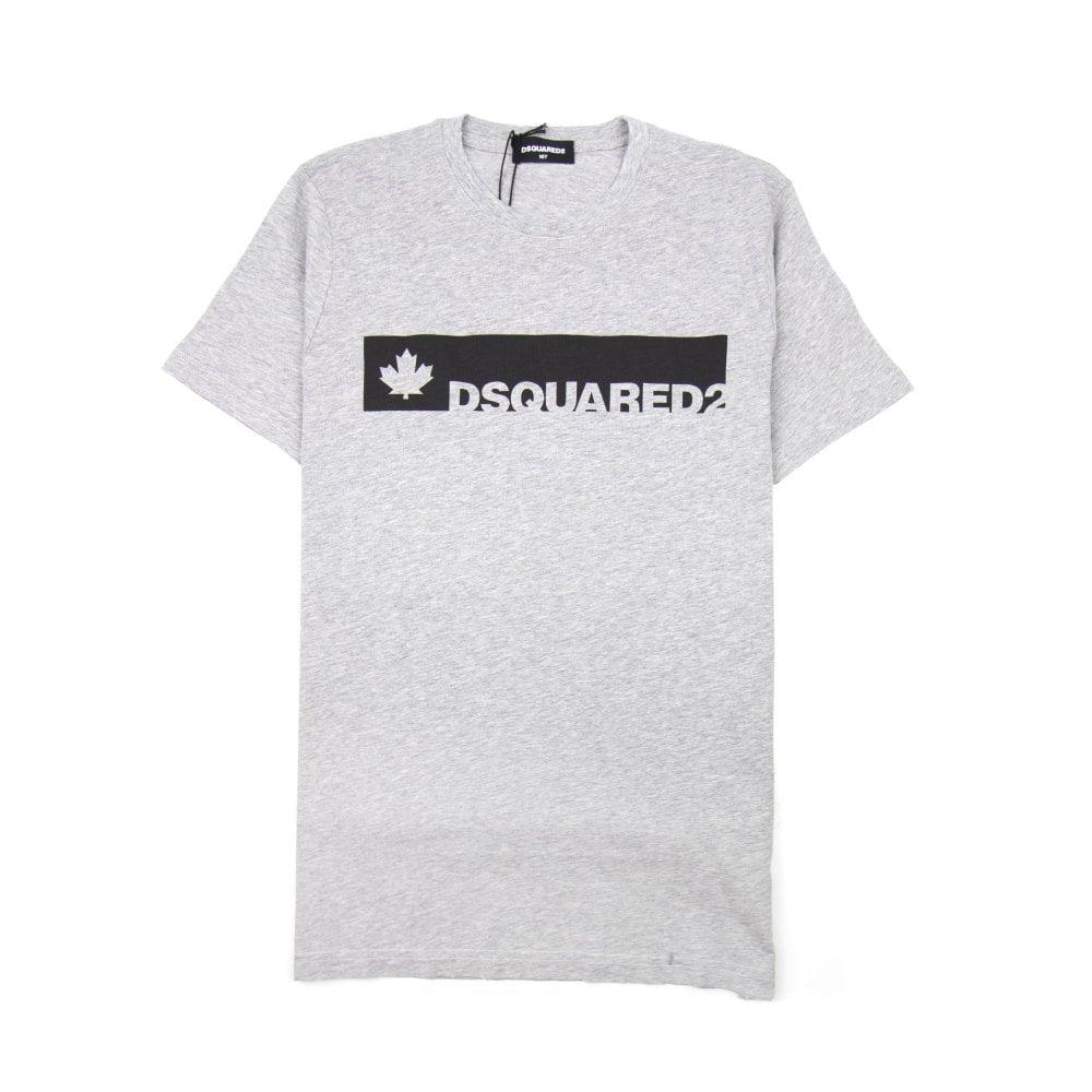 Shirt Kids Dsquared2 Greyblack Sleeve Bar Short Onu T OXUqP8w