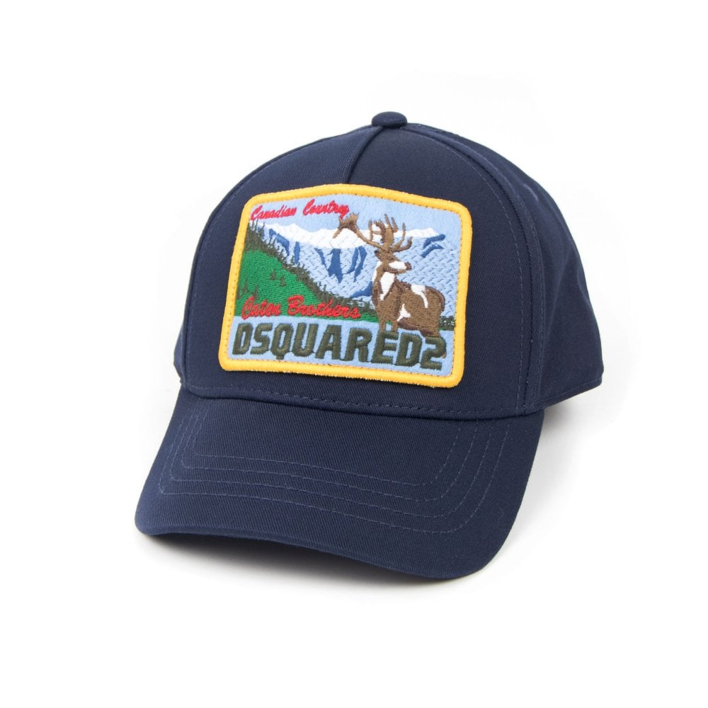 010c521bb Dsquared2 Kids Canadian Country Embroidered Cap Blue