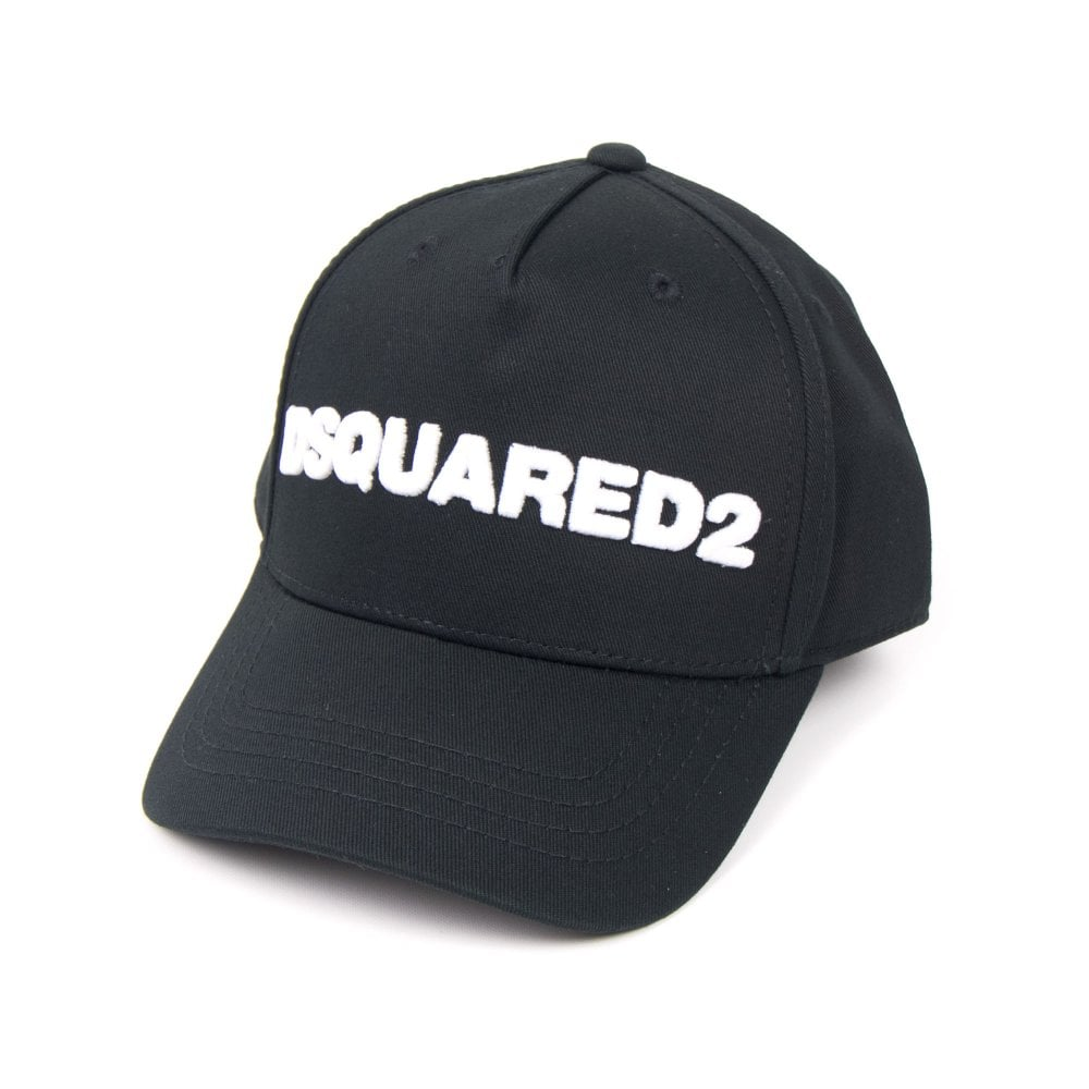 5a6e21c4c Dsquared2 Kids Embroidered Logo Cap Black