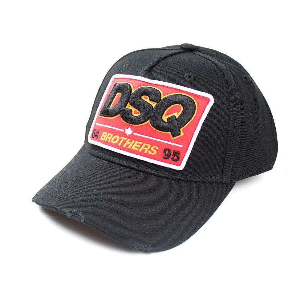 Dsquared2 DSQ 64 Brothers 95 Cap Black Red  cdac03fd9c3