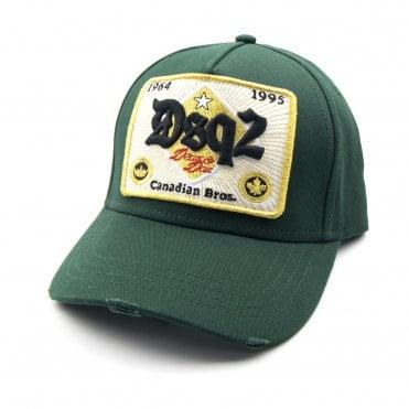 4137b1e53301a8 Dsquared2 DSQ2 Baseball Cap Gold Green