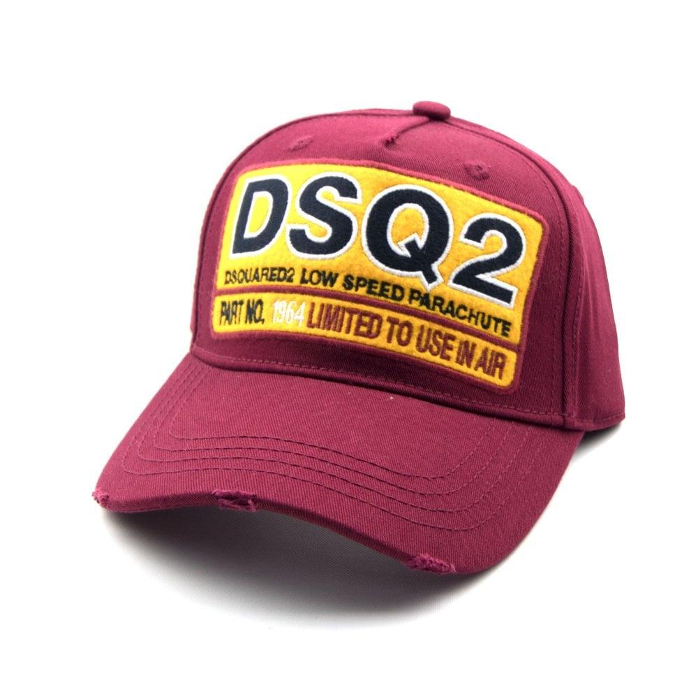 ac1890da603 Dsquared2 DSQ2 Low Speed Parachute Cap Burgundy