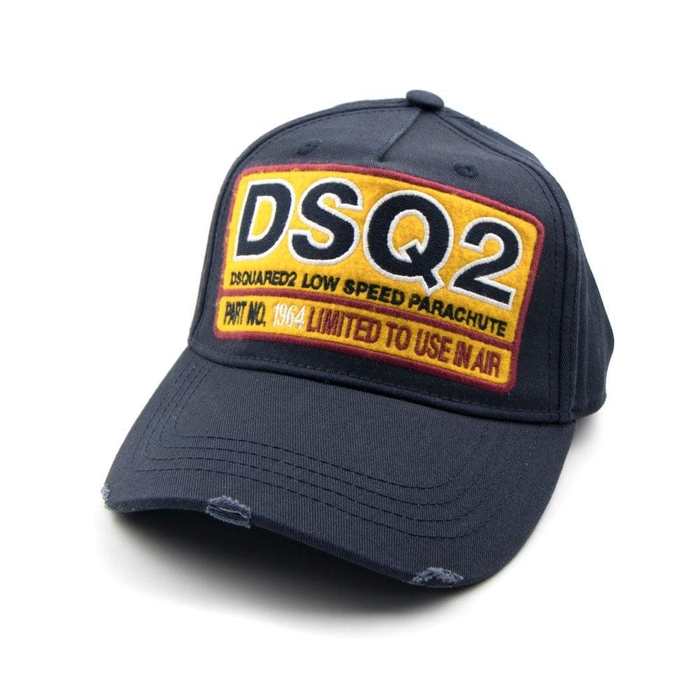 02aa26b01bd47 Dsquared2 DSQ2 Low Speed Parachute Cap Navy