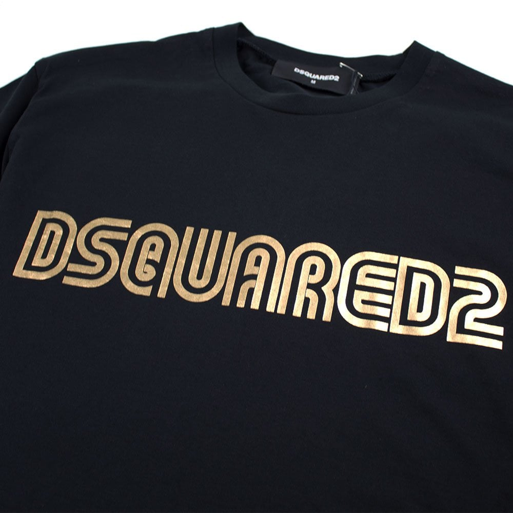 Dsquared2 Dsquared2 Gold Foil T Shirt Black