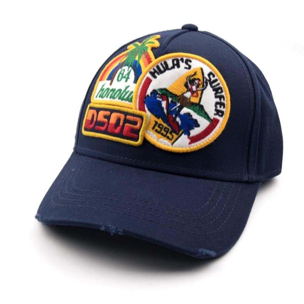 49afa8e7 Dsquared2 Hula's Surfer Cap Navy | ONU