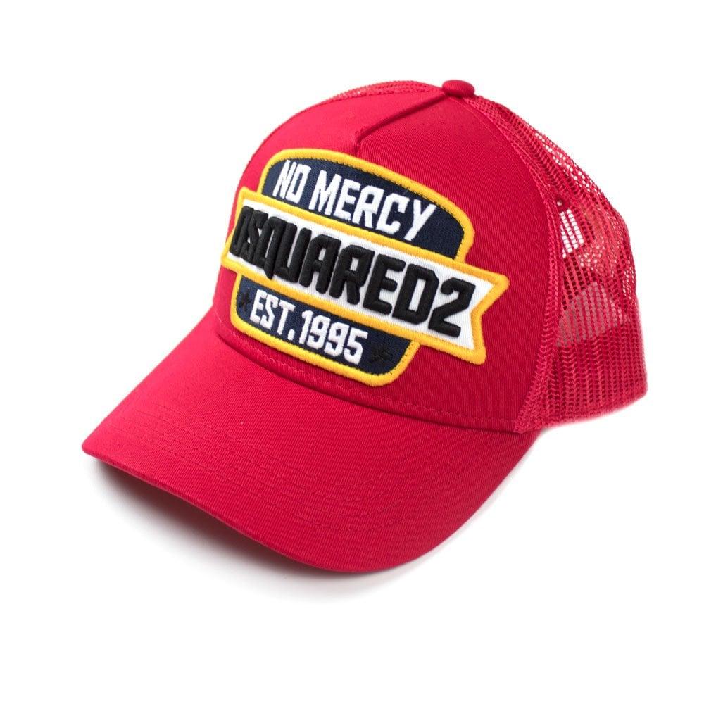 280369e36e84a Dsquared2 No Mercy Trucker Cap Red Black
