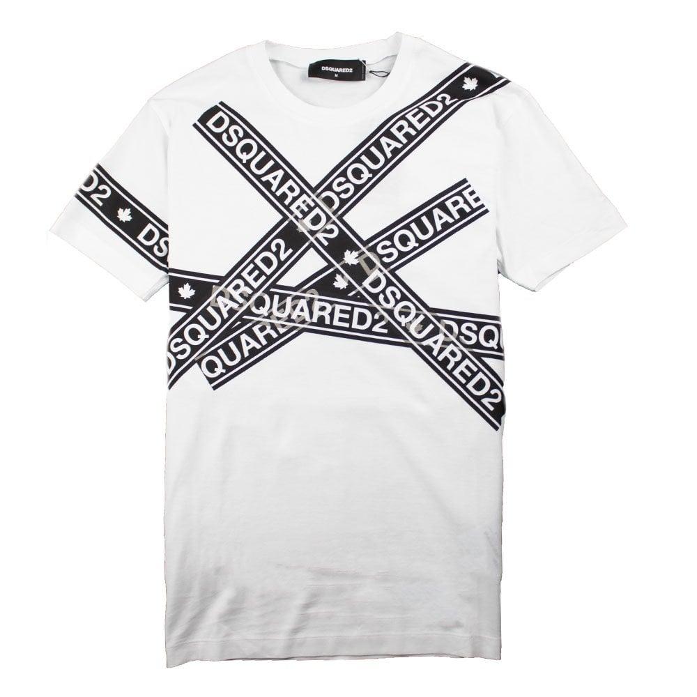 Dsquared2 Dsquared2 Tape T shirt White
