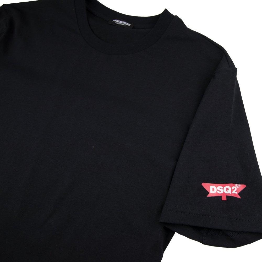 a88c96ca22e Dsquared2 Underwear Leaf Logo T-Shirt Black