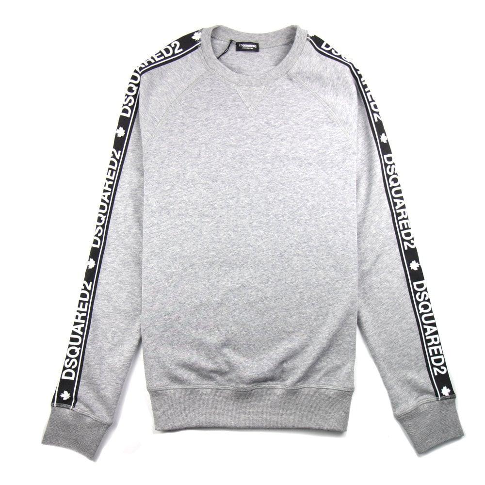 2154a6ff874730 Dsquared2 Underwear Tape Jumper Light Grey   ONU