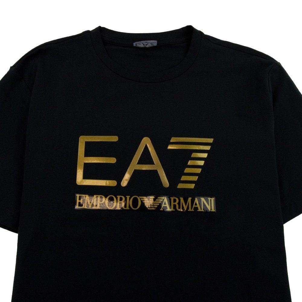 3D Gold Logo T-shirt Black