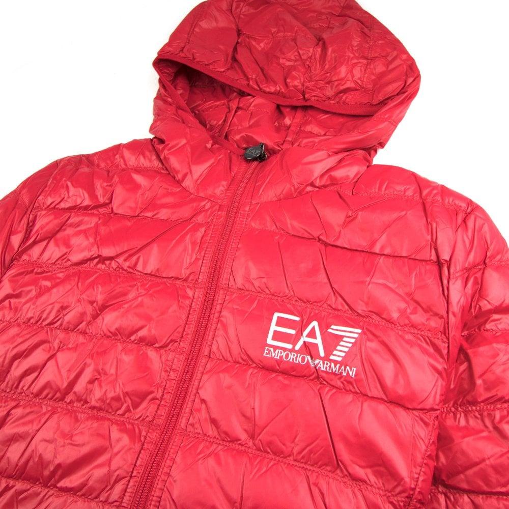 ea7 red gilet