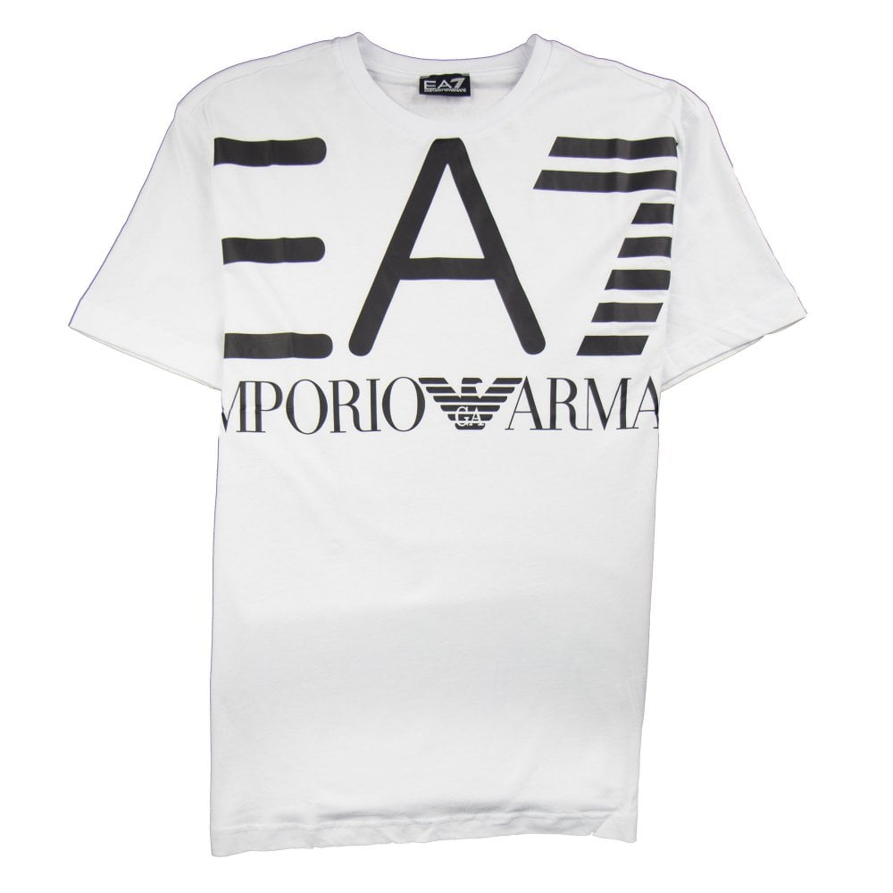 lower price with authentic quality new concept Emporio Armani Large Logo T-Shirt White