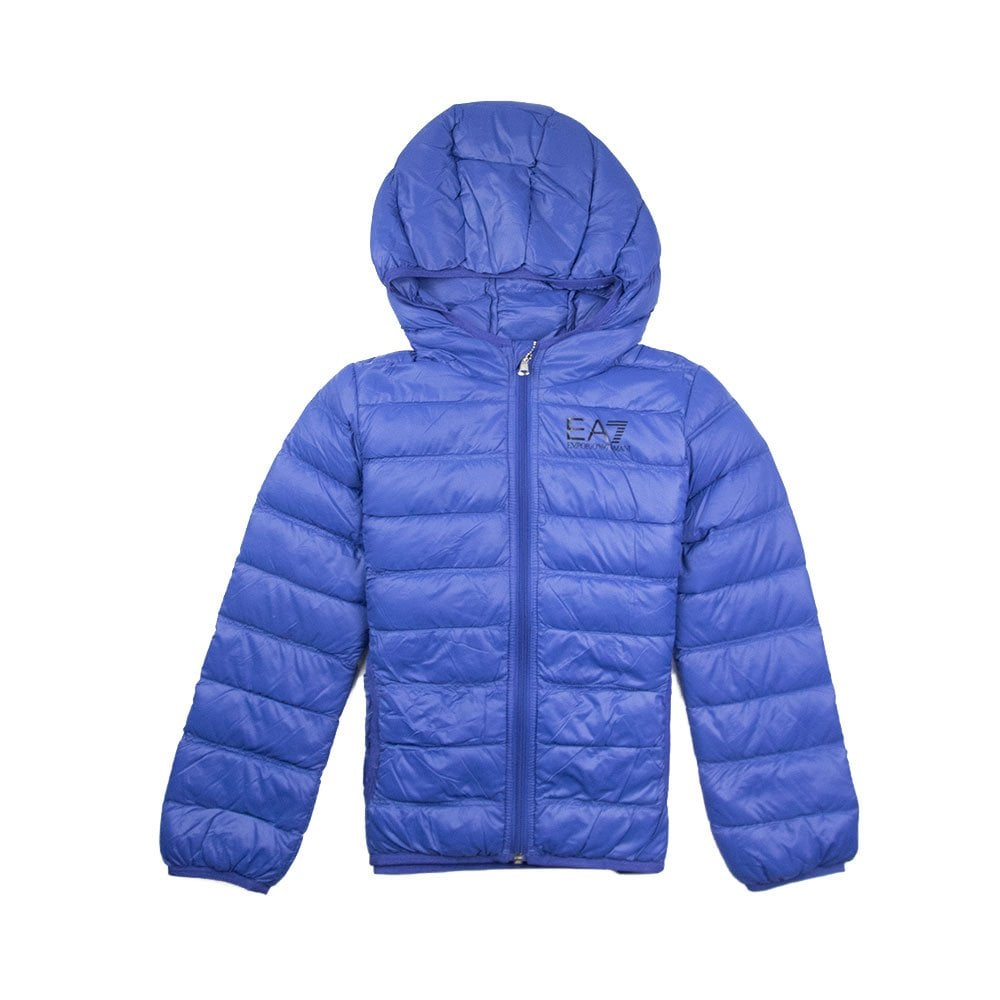 world-wide selection of best selection of 2019 a few days away Emporio Armani Hooded Down Jacket Electric Blue