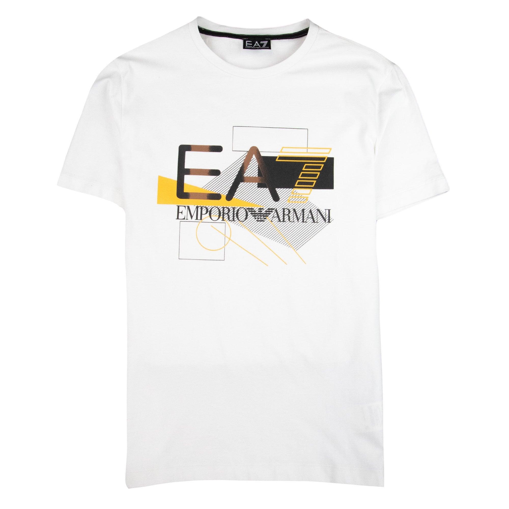 EA7 Shape Logo T-Shirt Navy