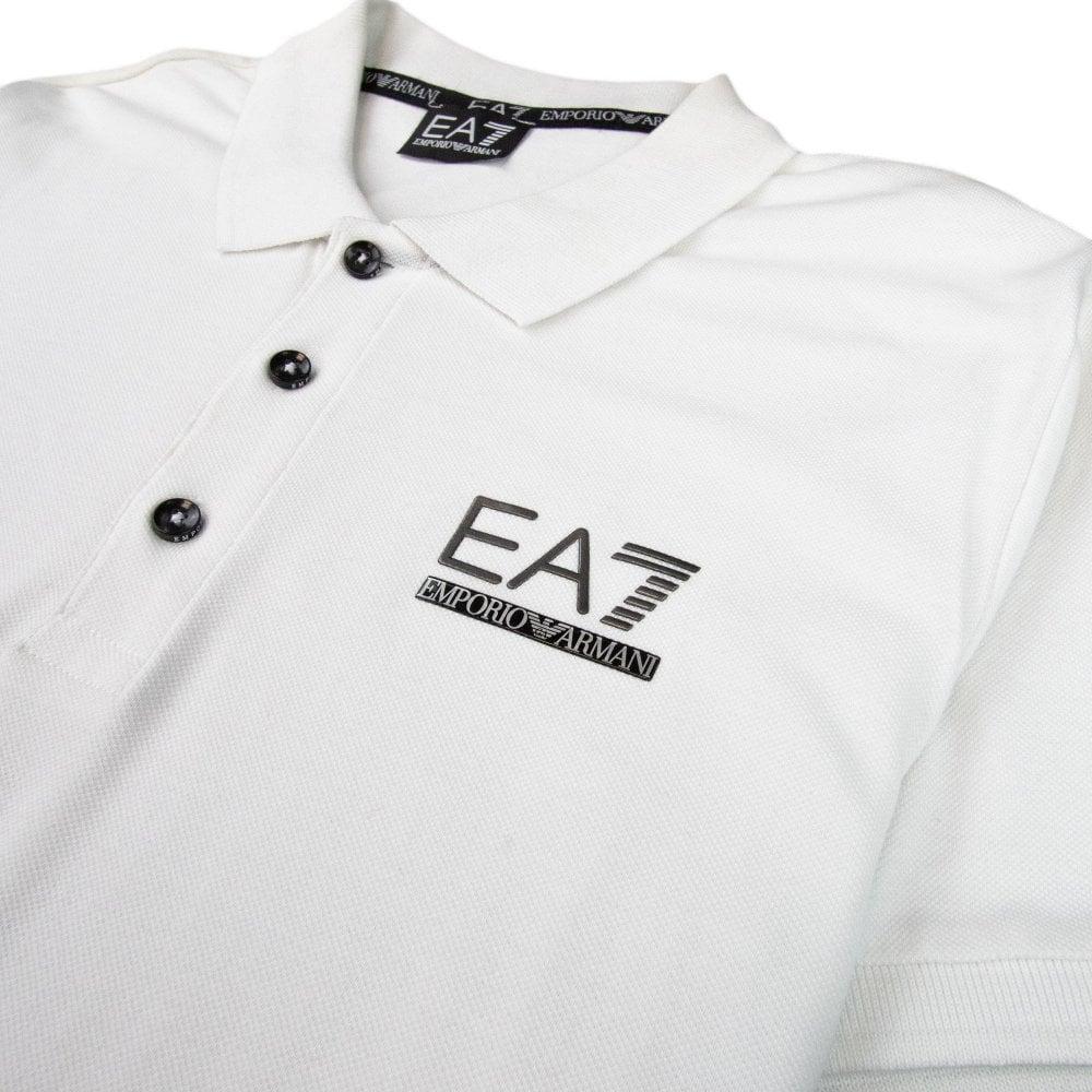 ec5340ca EA7 Train Evolution Rubber Logo Polo White | ONU