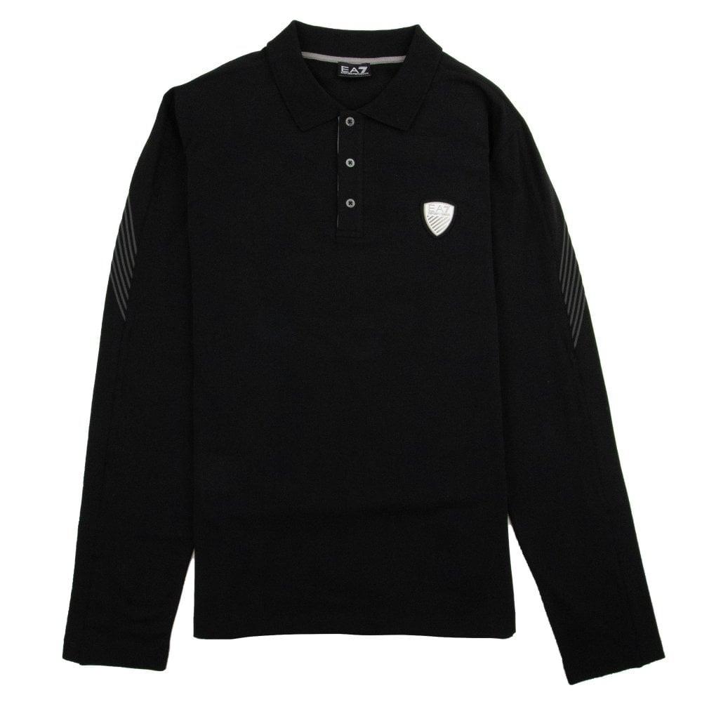81c0f3bc7 EA7 Train Soccer Long Sleeve Polo Black