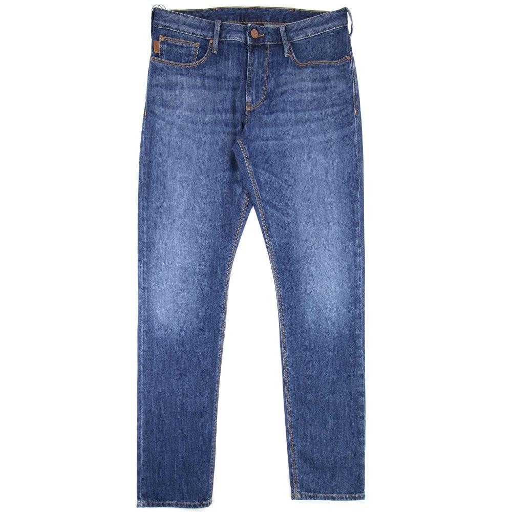 half off a1778 c84a1 Armani Jeans J06 Slim Jeans Denim Blue 0941