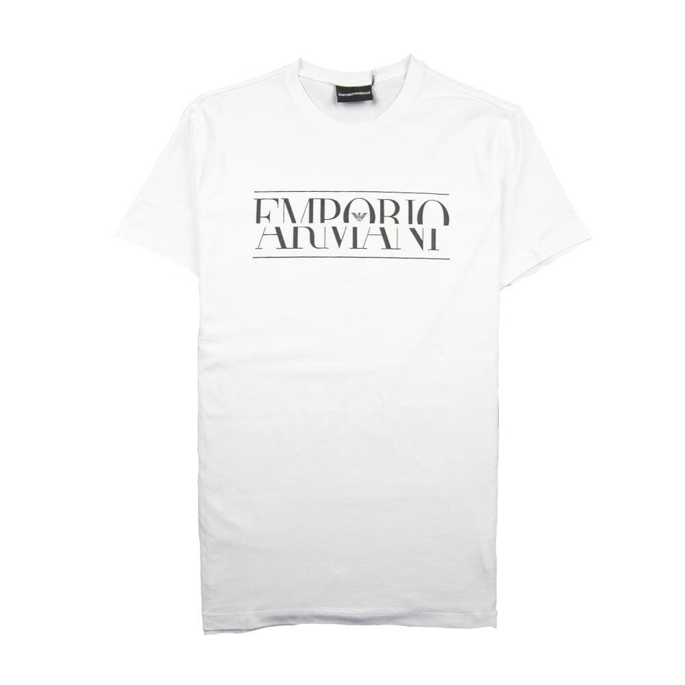 53f42c282 Emporio Armani Block Logo T-Shirt White | ONU