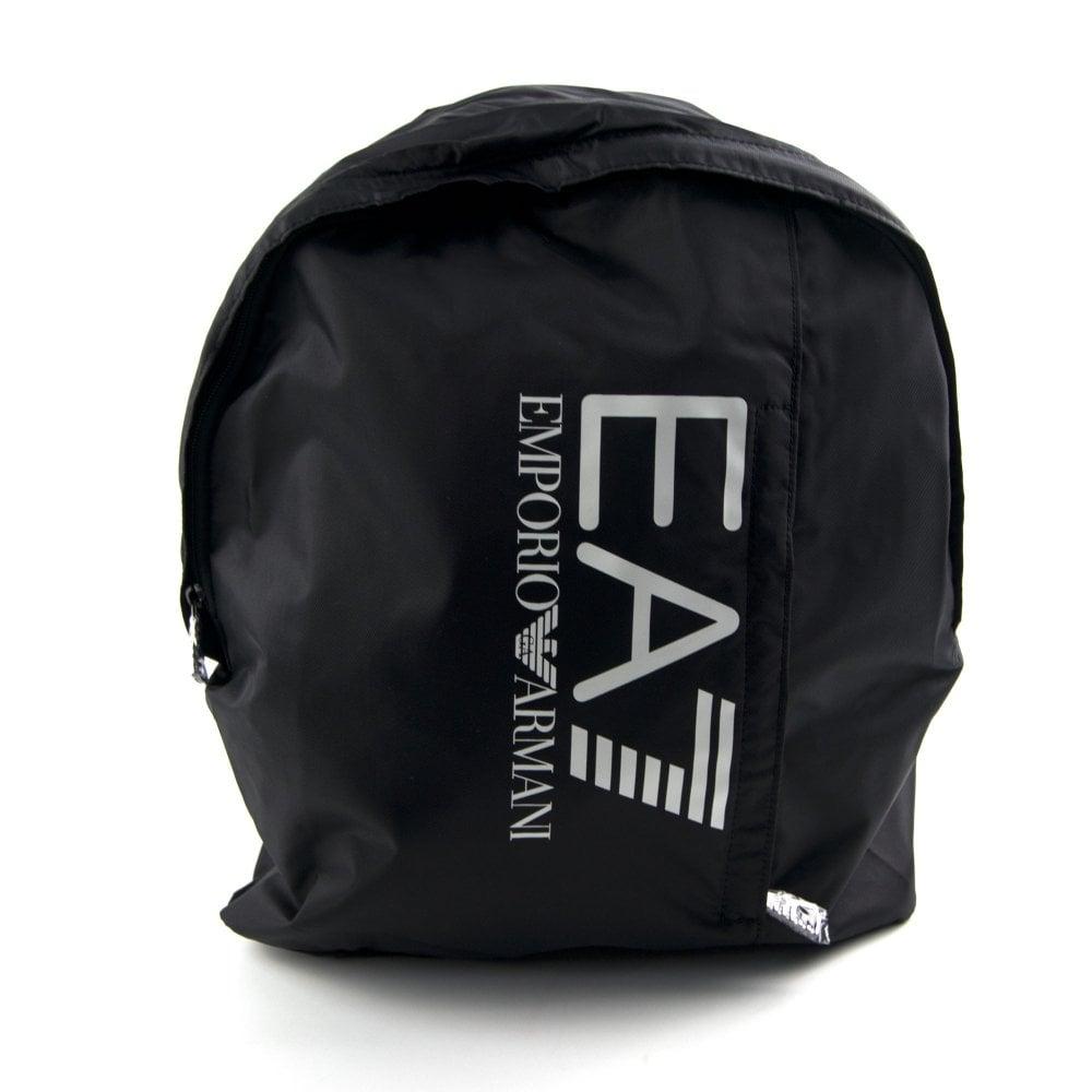 843bcf6e9414 Emporio Armani EA7 Logo Rucksack Black